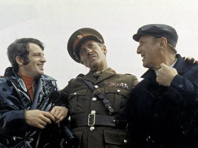 Jean-Paul Belmondo, Bourvil and David Niven: Le Cerveau, 1969