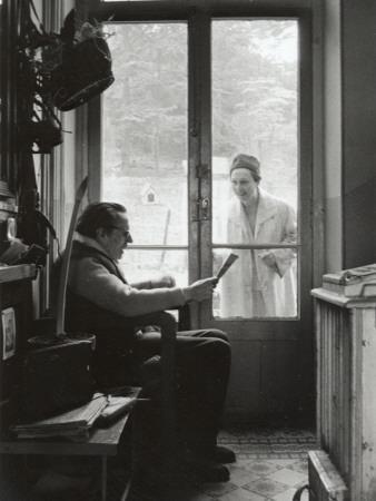 Arletty with Louis-Ferdinand Céline, April 14, 1958