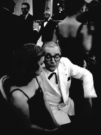 Marcel Achard and Jeanne Moreau, 1958