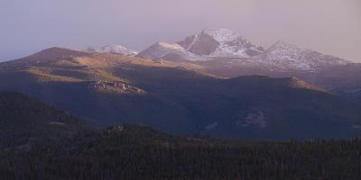 Vista of Long's Peak from Moraine Park in Rocky Mountain National Park, Colorado,USA