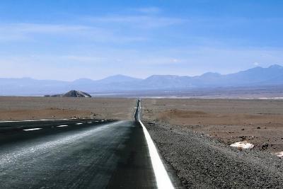 Road in the Atacama Desert, Chile and Bolivia