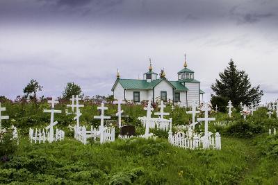 Russian Cemetery and Orthodox Church in Ninilchik, Kenai Peninsula, Alaska