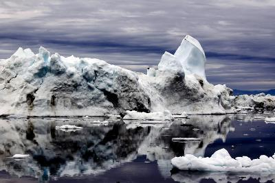 Iceberg and Pieces of Ice in Greenland
