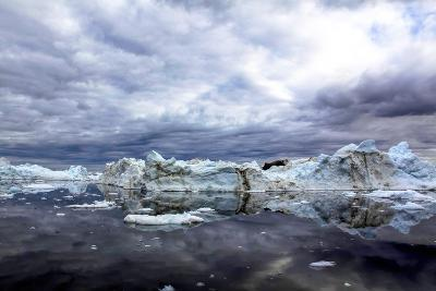 Icebergs and Pieces of Ice in Greenland