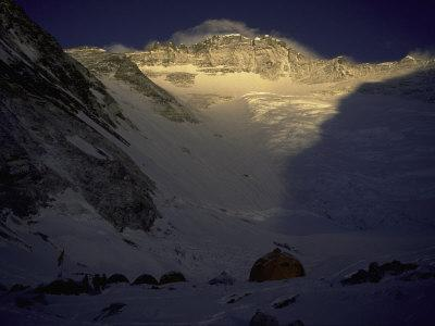 Sunkissed Advanced Basse Camp on Southside of Everest, Nepal