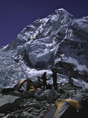 View of Mount Nuptse from Everest Base Camp, Nepal