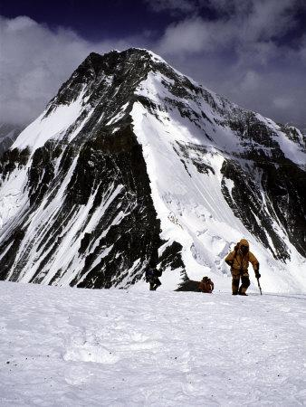Climbers Nesr the High Camp at the North Col of Everest