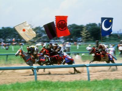 Horse Race in Samurai Armors