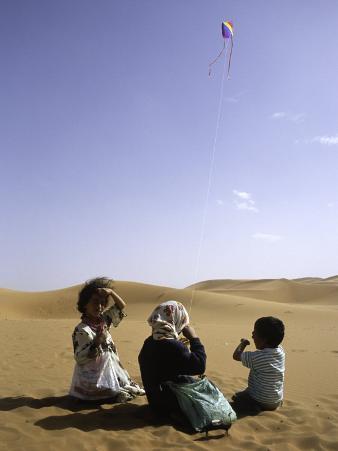 Children with Kite, Morocco