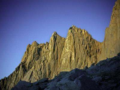 Mt. Whitney Infront of Bright Blue Sky in California, USA