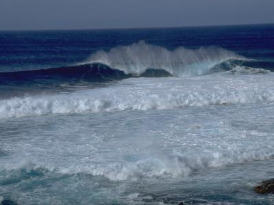 Waves Crashing off Easter Island, Chile