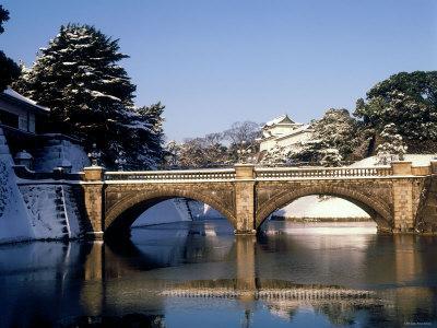 Niju-Bashi Bridge of Moat of Imperial Palace, Tokyo, Japan