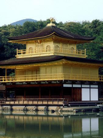 Kinkaku (Golden Pavillion) in the Garden of Rokuon-Ji Temple, Kyoto, Japan