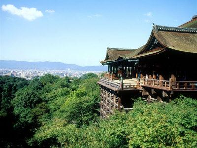 Kiyomizu Temple (Kiyomizudera), One of the Most Famous Tourist Spots in Kyoto, Japan