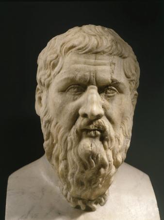 Plato, 428-348 BC, Greek philosopher, Marble Bust