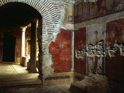Interior court of Roman villa on Mount Coressos, Ephesus, Turkey