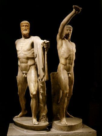 The Tyrannicides, Sculptural Group Depicting the Athenians, Harmodius and Aristogiton