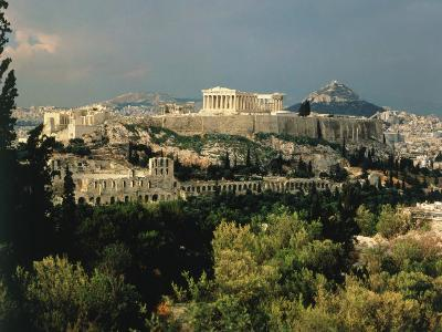 Athens, Greece, Showing the Acropolis
