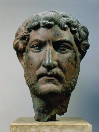 Hadrian, 76-138 AD Roman Emperor, Bronze Head, from Egypt
