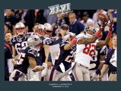 New York Giants and New England Patriots - Super Bowl XLVI - February 5, 2012: Mario Manningham - C