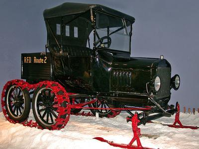 National Postal Museum: Ford Model-T with Snowmobile Attachment