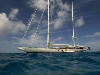 """Sy """"Adele"""", 180 Foot Hoek Design, Anchored Off the Coast of St Barts"""