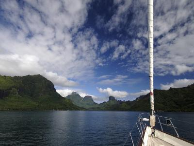 "Sy ""Adele"", 180 Foot Hoek Design, Approaching a Volcanic Island in French Polynesia"