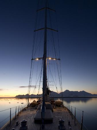 "Sy ""Adele"", 180 Foot Hoek Design, Anchored at Night Time in Yankee Harbour, Antarctica, 2007"