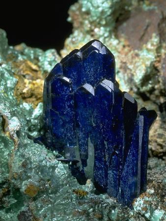 MineralCalendar: Azurite with Malachite. Bisbee, Arizona