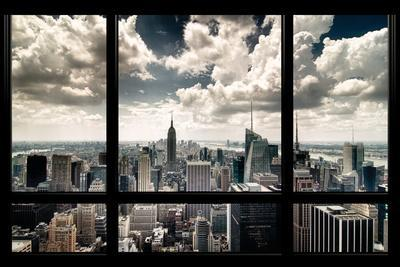 View of Manhattan, New York from Window