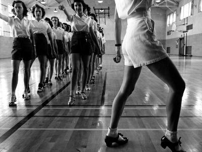 Tap Dancing Class at Iowa State College, 1942