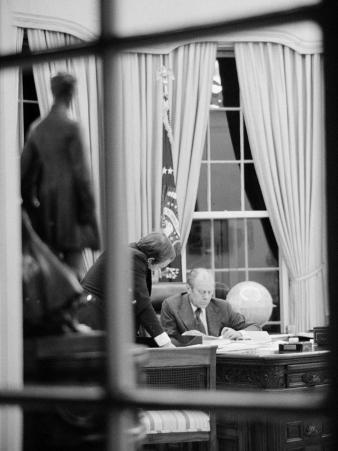 President Gerald Ford Working at His Desk, Washington, D.C., 1975