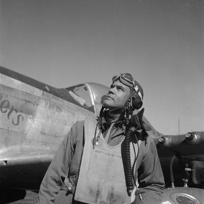 Col. Benjamin O. Davis, Air Base at Rametti, Italy, 1945