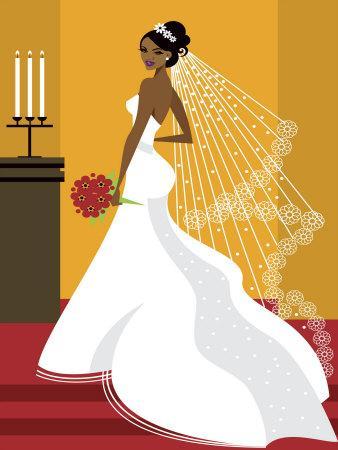 Wedding Bride in White Dress
