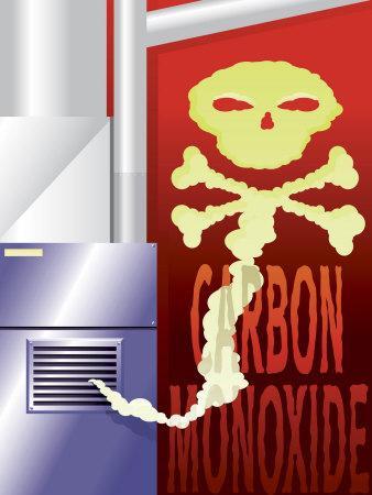 Poster Warning of Carbon Monoxide Hazard