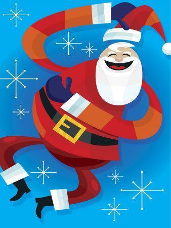 Happy Santa Claus Clicking His Heels