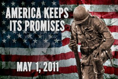 America Keeps Its Promises Military Poster