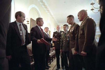 President George W. Bush with Chiefs of Staff, Oct. 24, 2001