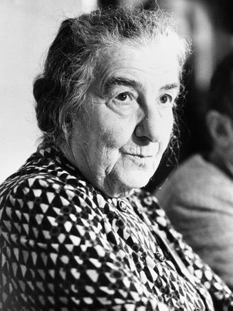 Golda Meir, Former Israeli Prime Minister Attending World Conference on Soviet Jewry