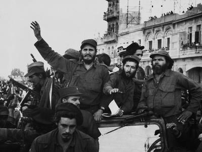 Fidel Castro, with His Fellow Revolutionaries, Entering Havana on January 8, 1959