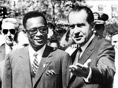 President Richard Nixon Welcomes Pres. Joseph Mobutu at the White House