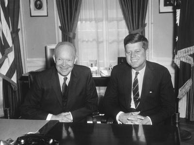 President Dwight Eisenhower Meets with President-Elect John Kennedy
