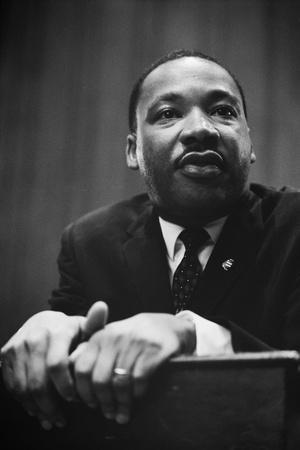 Martin Luther King at a Press Conference in Washington, D