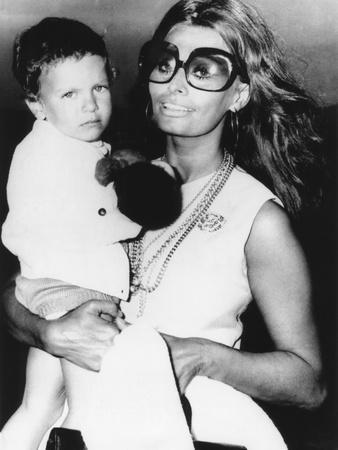 Sophia Loren Holds Her Son, Carlo Ponti, Jr