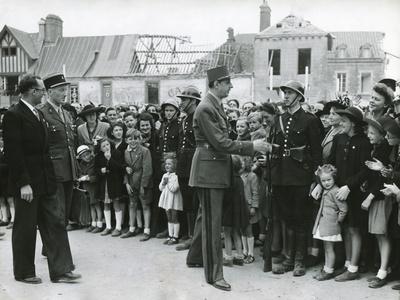 General Charles De Gaulle in Normandy, June 11, 1945