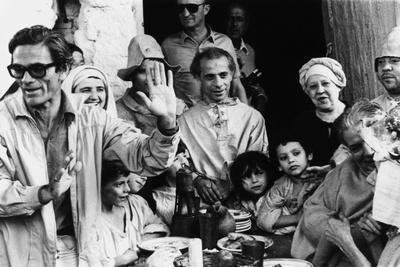 Italian Film Maker Pier Paolo Pasolini, Directs Villagers Appearing as Extras in 'Decameron'