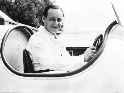 Donald Campbell, Son of Racing Great Sir Malcolm Campbell, in His Father's Speedboat, Blue Bird