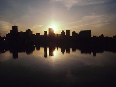 Cityscape at Sunset - Architecture Montreal