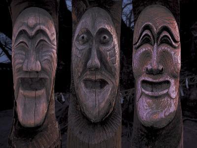 Wooden Carved Face Masks