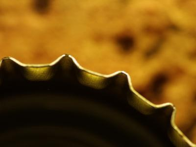 Close-up of a Rigid Saw Blade